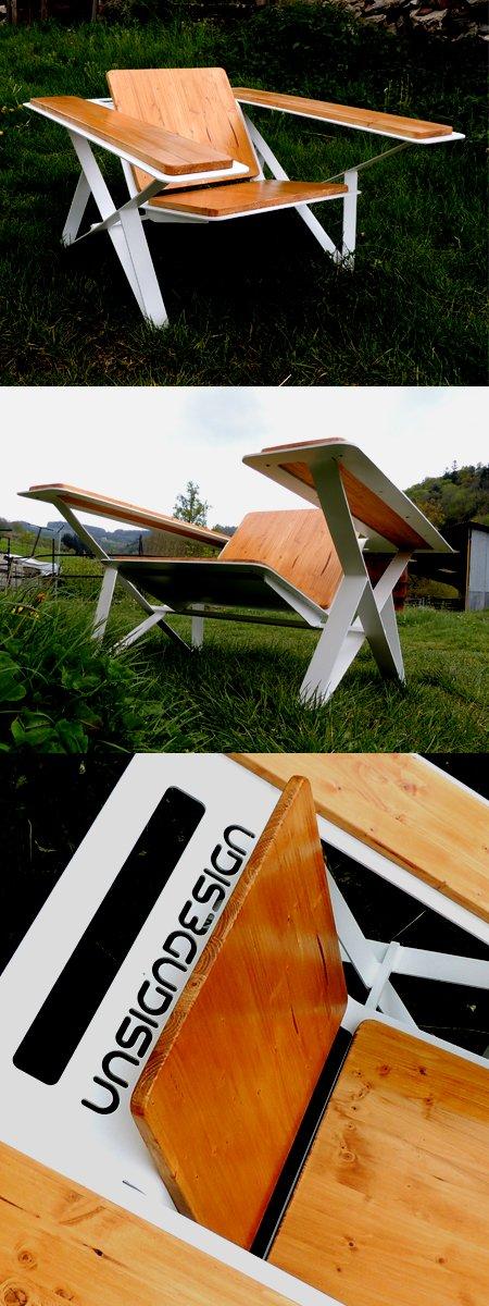 fauteuil métal-bois blog