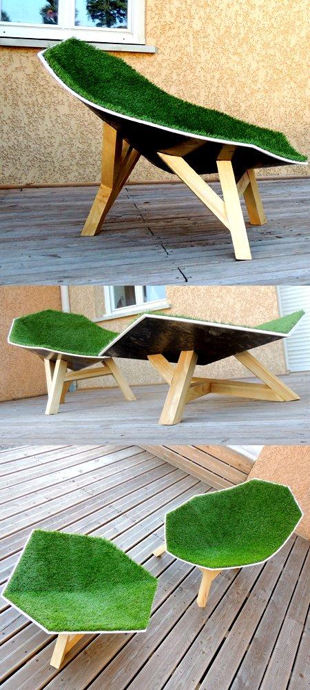 fauteuil pelouse blog